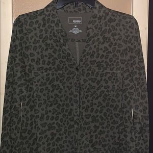 Sonoma leopard button up